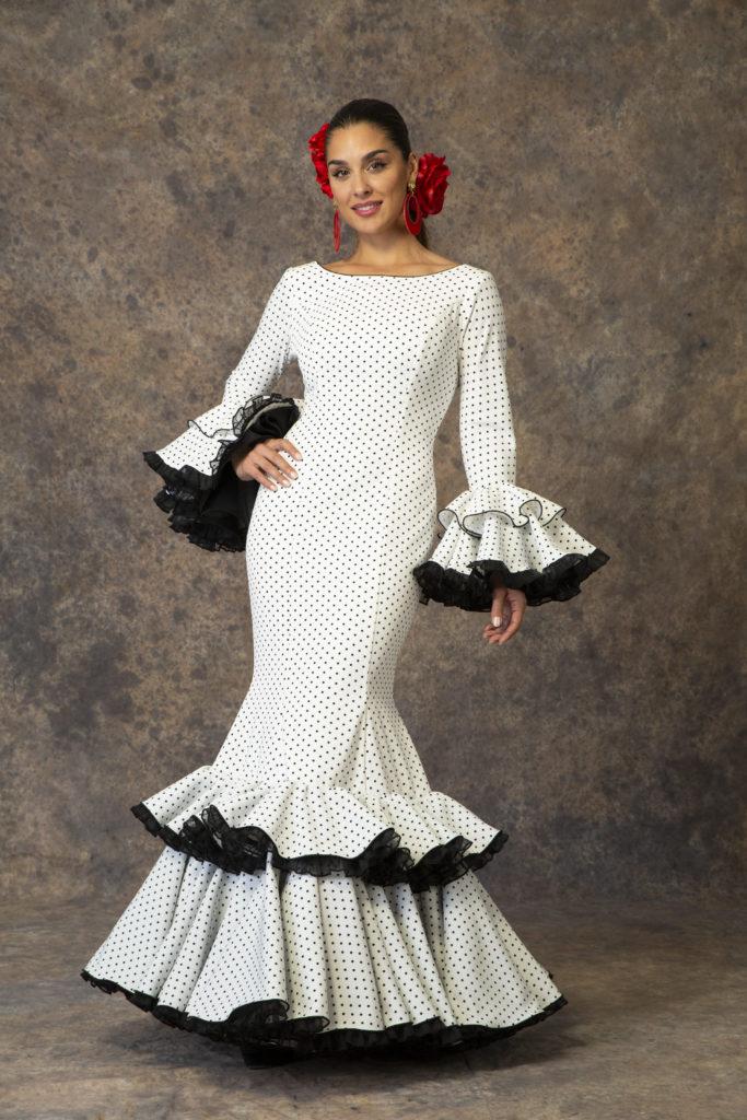 Sencillo traje de flamenca de Aires de Feria 2019. Modelo Primavera.