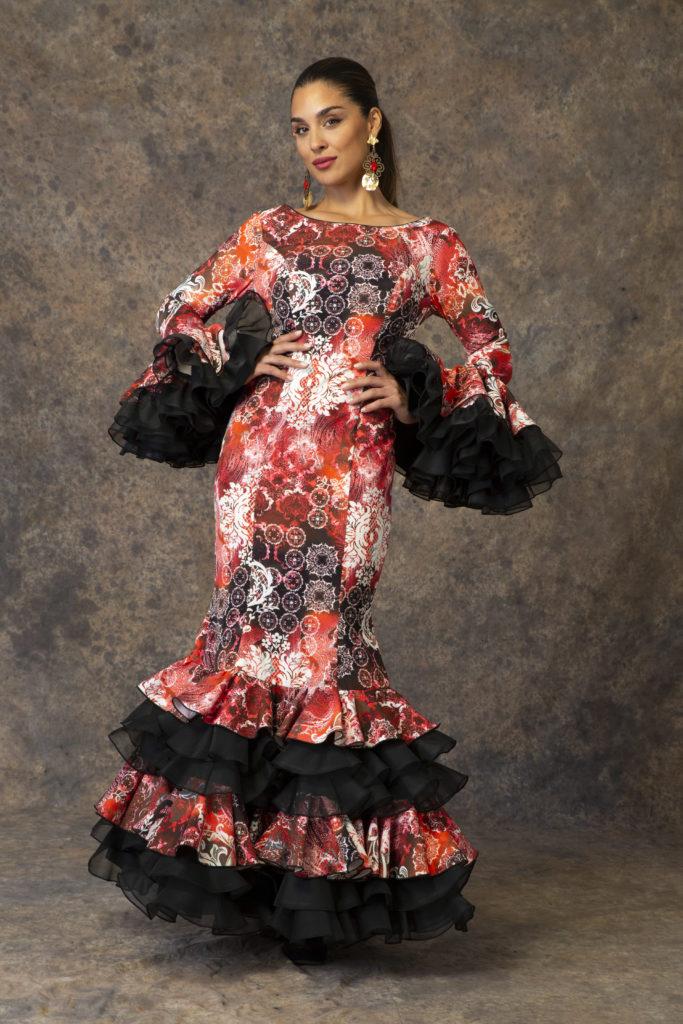 Original traje de flamenca de Aires de Feria 2019. Modelo Requiebro.