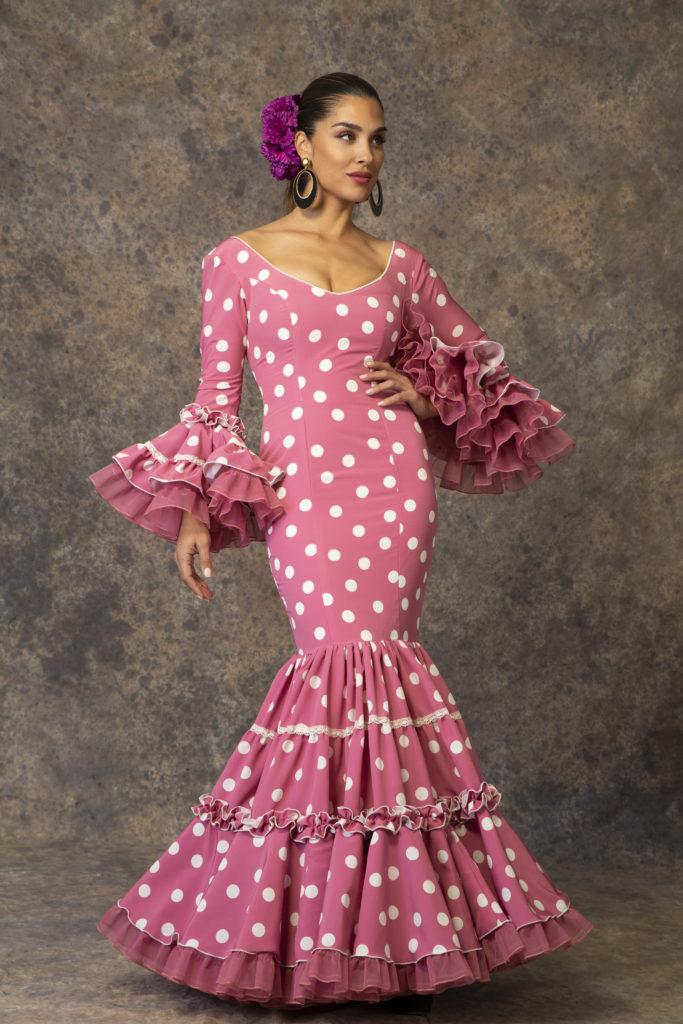 Traje de flamenca lunares de Aires de Feria. Modelo Romance.