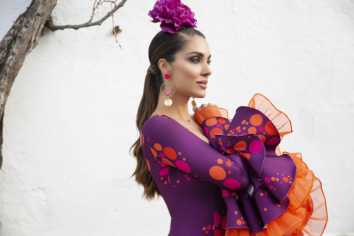 Foto traje de flamenca de Aires de Feria 2020
